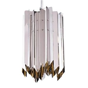 Design Living 6.7-in Silver Mini Pendant Light