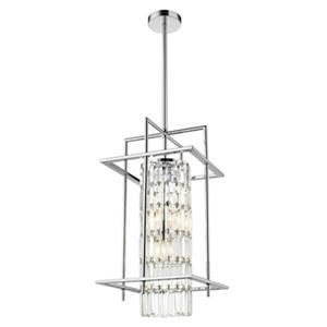 Design Living 11.8-in Silver Crystal Cage 3-Light Mini Pendant Light