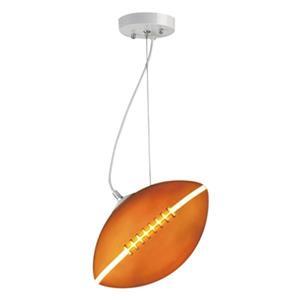 Design Living 7-in Brown Football Mini Pendant Light