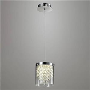 Design Living 5.10-in Glass Cylinder LED Mini Pendant Light