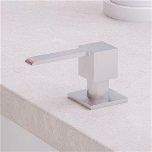 ALFI Brand 11.13-in Brushed Stainless Steel Modern Square Soap Dispenser