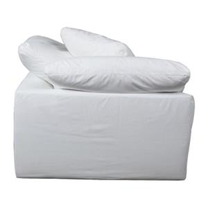 Sunset Trading Cloud Puff Sofa Sectional Modular Arm White Chair Slipcover