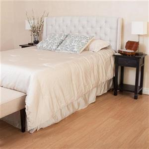 Best Selling Home Decor Perryman Beige Full/Queen Polyester Upholstered Headboard