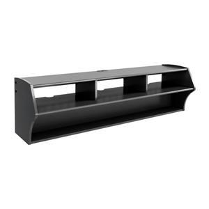 Prepac Altus Black Wall-Mounted TV Stand