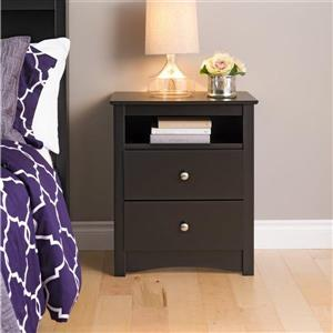 Prepac Black Nightstand