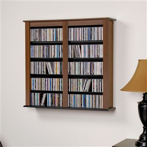 Prepac Furniture Double Wall Mounted Multimedia Storage