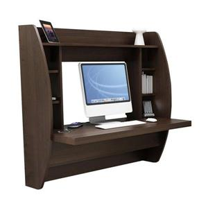 Prepac Transitional Espresso Floating Desk