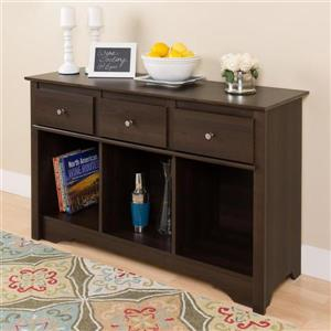 Prepac Espresso Composite Casual Console Table
