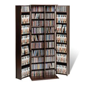 Prepac Espresso Transitional Engineered Wood Media Cabinet