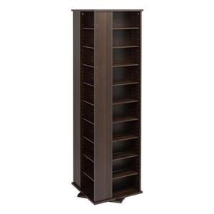 Prepac Furniture Large Four-Sided Spinning Tower