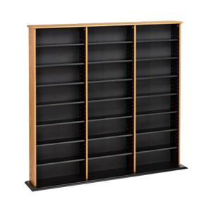 Prepac Furniture Triple Width Wall Multimedia Storage