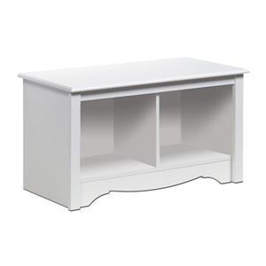Prepac Monterey Casual White Storage Bench
