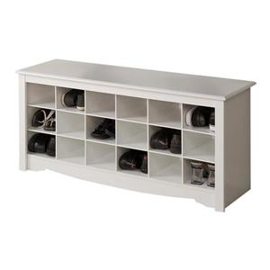 Prepac Casual White Storage Bench
