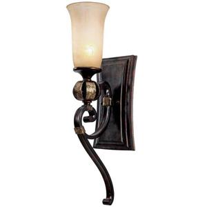 Golden Lighting Portland 6.5-in W 1-Light Fired Bronze Transitional Ambient Hardwired Wall Sconce