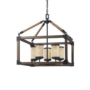 Sea Gull Lighting Dunning Stardust Transitional Frosted Glass Cage Pendant