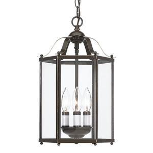 Sea Gull Lighting Bretton Heirloom Bronze Mini Traditional Clear Glass Lantern Pendant