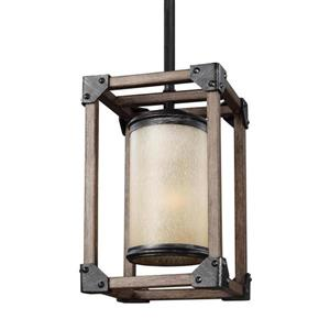 Sea Gull Lighting Dunning Stardust Mini Traditional Tinted Glass Cage Pendant