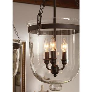 Sea Gull Lighting Westminster Autumn Bronze Traditional Clear Glass Urn Pendant