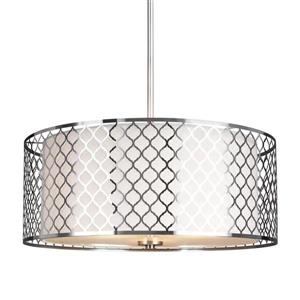 Sea Gull Lighting Jourdanton Brushed Nickel Modern Drum Pendant