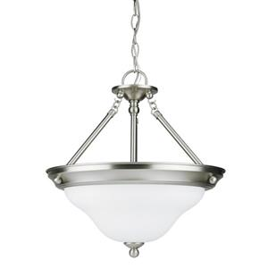 Sea Gull Lighting Sussex Brushed Nickel Transitional Bowl Pendant