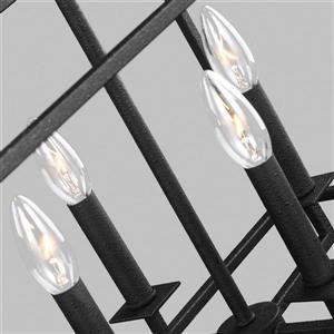 Sea Gull Lighting Perryton 40-in W 8-Light Blacksmith Kitchen Island Light
