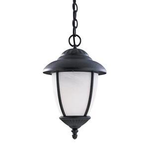 Sea Gull Lighting Yorktowne Forged Iron Transitional Marbleized Glass Lantern Pendant