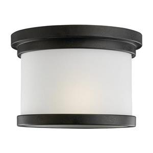 Sea Gull Lighting Winnetka 10-in W Forged Iron Outdoor Flush-Mount Light