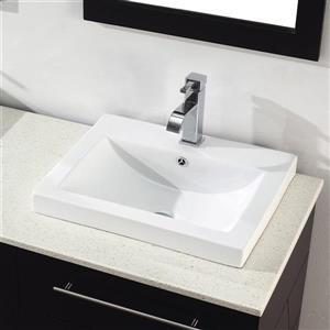 Spa Bathe Grada Chai Double Sink Vanity with Nougat Quartz Top (Common: 63-in x 22-in)
