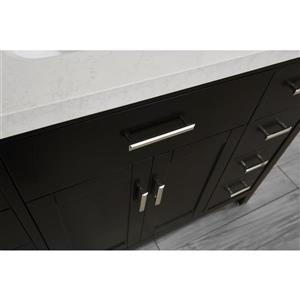 Spa Bathe Kenzie Espresso Single Sink Vanity with Off-white/grey veins Engineered Stone Top (Common: 48-in x 22-in)