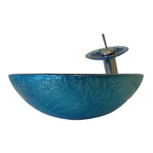 Diaccio Glass Vessel Sink Set