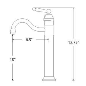 Novatto Chrome 1-Handle Vessel Bathroom Sink Faucet