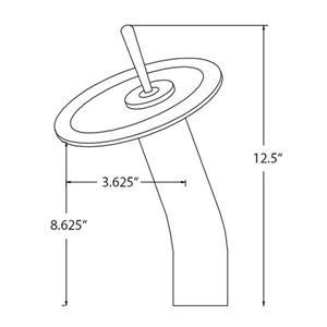Novatto Brushed Nickel 1-Handle Vessel Bathroom Sink Faucet