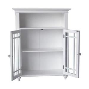 Elegant Home Fashions Neal 26.5-in W x 34-in H x 12-in D White MDF Freestanding Linen Cabinet