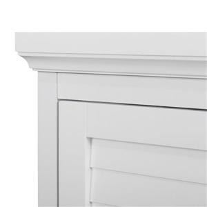 Elegant Home Fashions Slone 26-in W x 32-in H x 13-in D White MDF Freestanding Linen Cabinet