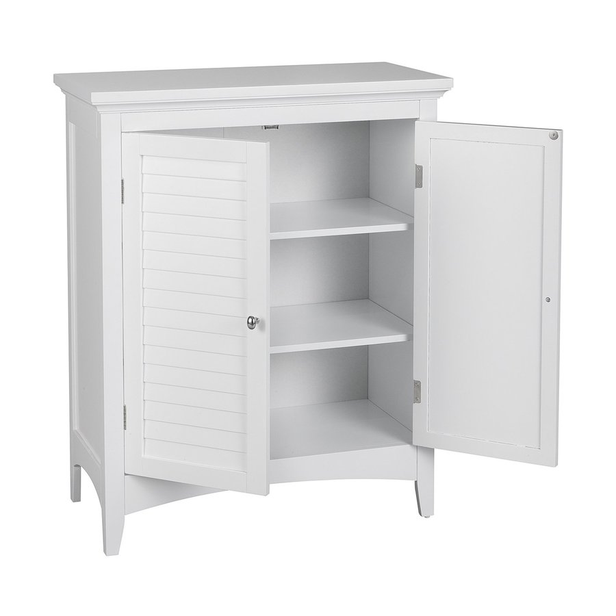 online retailer 653b2 81ade Elegant Home Fashions Slone 26-in W x 32-in H x 13-in D White MDF  Freestanding Linen Cabinet