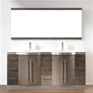 72-in Delucia Series Double Bathroom Vanity