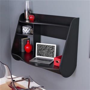 Prepac Contemporary Black Floating Desk