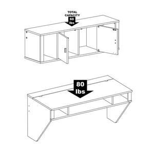 Prepac Contemporary Washed Ebony Floating Desk