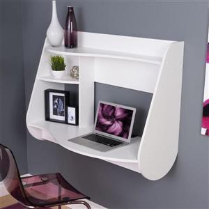 Prepac Contemporary White Floating Desk