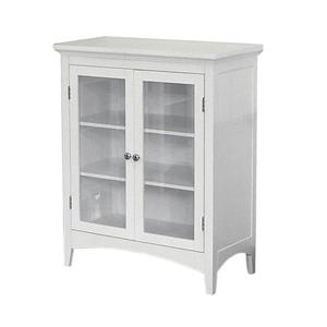 Elegant Home Fashions Madison 26-in W x 32-in H x 13-in D White Composite Freestanding Linen Cabinet