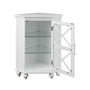 Elegant Home Fashions Owen 24.75-in W x 32-in H x 17.5-in D White Composite Freestanding Linen Cabinet