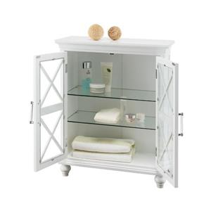 Elegant Home Fashions Owen 26-in W x 32-in H x 12.5-in D White Composite Freestanding Linen Cabinet