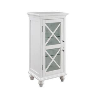 Elegant Home Fashions Owen 15-in W x 32-in H x 12-in D White Composite Freestanding Linen Cabinet