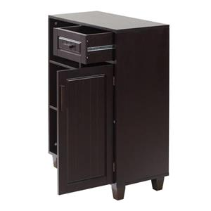Elegant Home Fashions Catalina 26-in W x 34.25-in H x 12.5-in D Dark Espresso Composite Freestanding Linen Cabinet