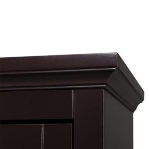 Elegant Home Fashions Collette Dark Espresso 3-Shelf Office Cabinet