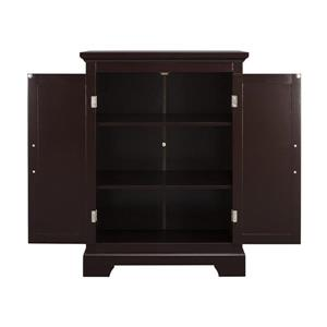 Elegant Home Fashions Collette Dark Espresso 3-Shelf Office Cabinet