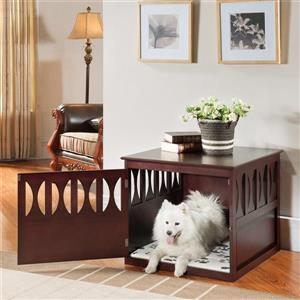 Elegant Home Fashions 2-ft x 2.3-ft x 2.5-ft Wood Dog House