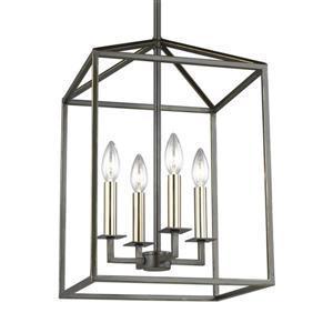 Sea Gull Lighting Perryton Heirloom Bronze Transitional Cage Pendant
