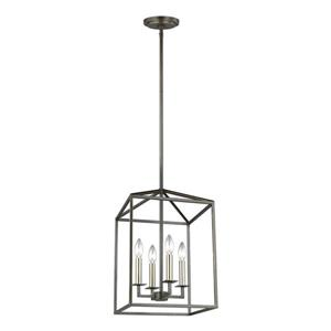 Sea Gull Lighting Perryton Chestnut Bronze Traditional Cage LED Pendant