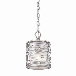 Golden Lighting Joia Peruvian Silver Mini Transitional Drum Pendant